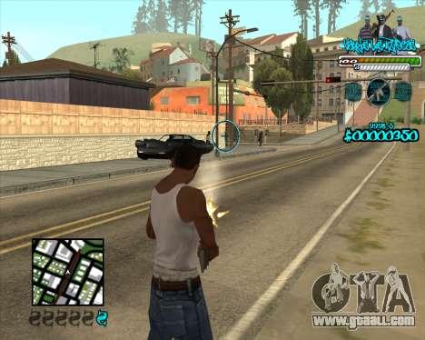 C-HUD for Aztecas for GTA San Andreas second screenshot
