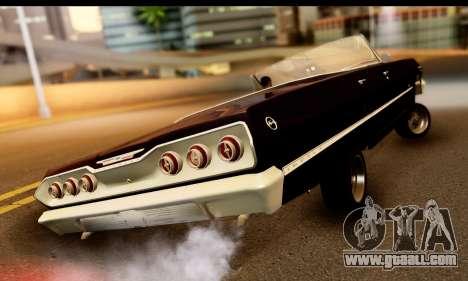 Chevrolet Impala 1963 for GTA San Andreas back left view