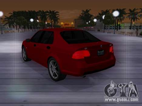 Saab 95 for GTA San Andreas bottom view
