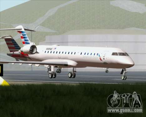 Bombardier CRJ700 American Eagle Airlines for GTA San Andreas upper view