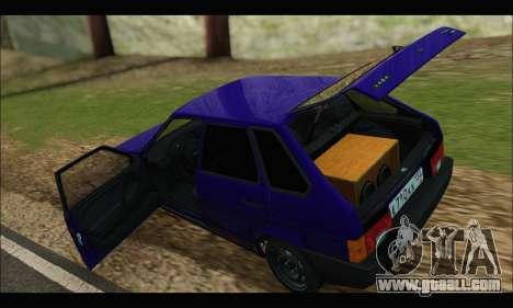 VAZ 2109 BPAN for GTA San Andreas back view