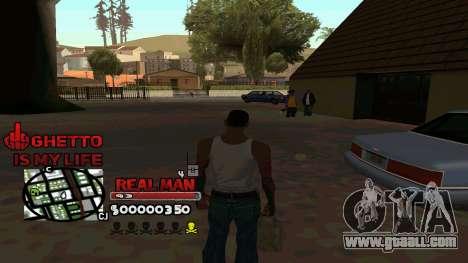 C-HUD Real Man for GTA San Andreas third screenshot