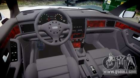 Audi 80 Cabrio euro tail lights for GTA 4 inner view