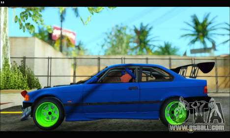 BMW e36 Drift Edition Final Version for GTA San Andreas back left view
