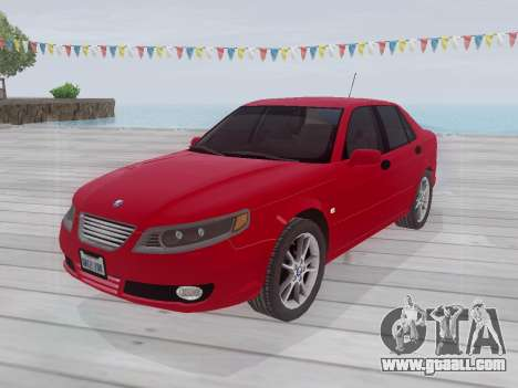 Saab 95 for GTA San Andreas back left view