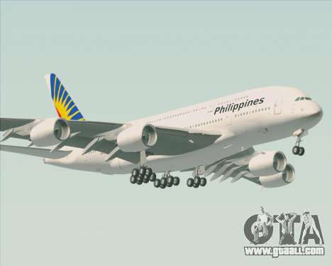 Airbus A380-800 Philippine Airlines for GTA San Andreas back view