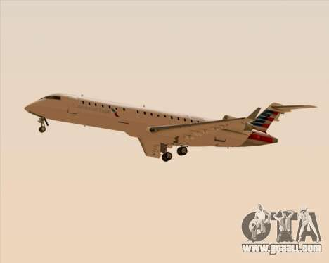 Bombardier CRJ700 American Eagle Airlines for GTA San Andreas side view