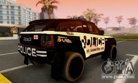 Bowler EXR S 2012 v1.0 Police for GTA San Andreas left view