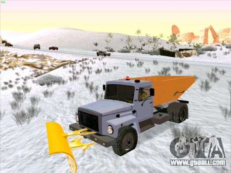 GAZ 3309 Snow for GTA San Andreas back view