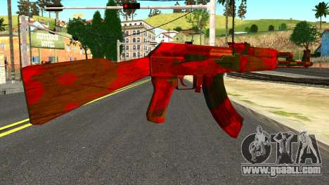 AK47 with Blood for GTA San Andreas second screenshot