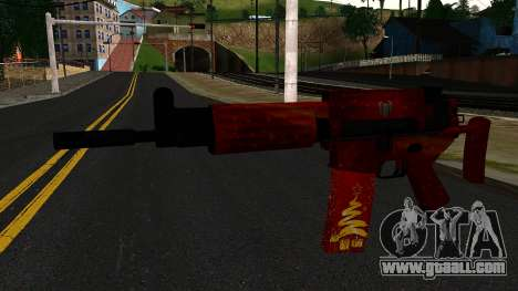 New Year's Eve Assault Rifle 2 for GTA San Andreas