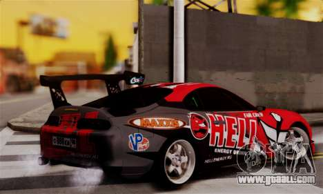 Toyota Supra HELL DT for GTA San Andreas left view