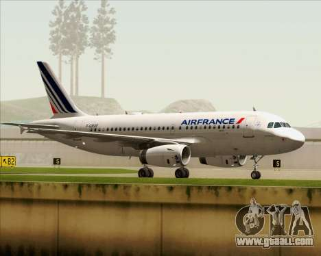 Airbus A319-100 Air France for GTA San Andreas side view