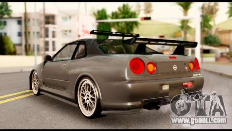 Nissan Skyline R34 Z for GTA San Andreas left view