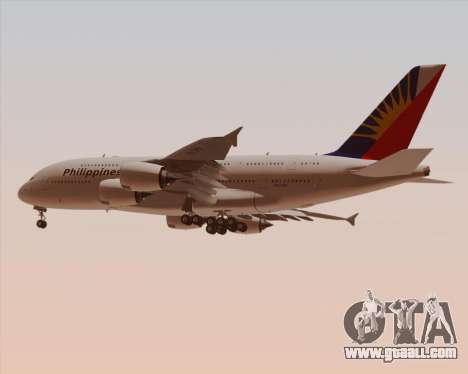 Airbus A380-800 Philippine Airlines for GTA San Andreas inner view