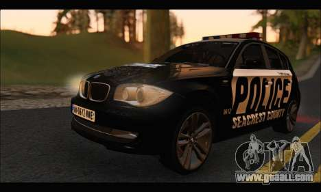 BMW 120i USA Police for GTA San Andreas left view