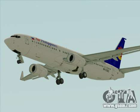 Boeing 737-800 Air Philippines for GTA San Andreas left view