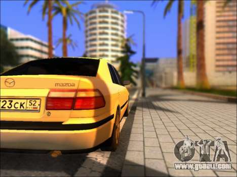 Mazda 626 for GTA San Andreas back left view