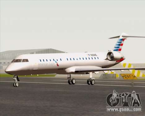 Bombardier CRJ700 American Eagle Airlines for GTA San Andreas back left view