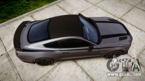 Ford Mustang GT 2015 Custom Kit black stripes for GTA 4 right view