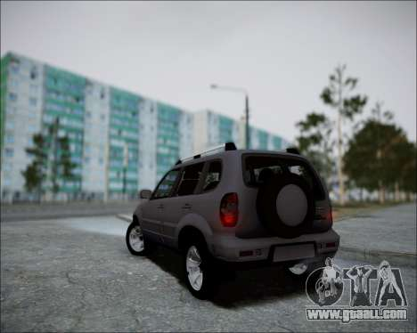 Chevrolet Niva for GTA San Andreas back view