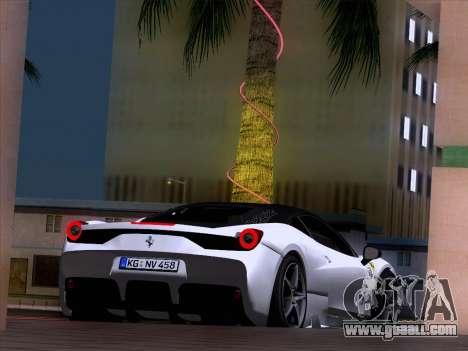 Ferrari 458 Special for GTA San Andreas right view