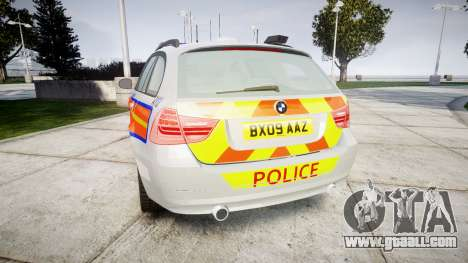 BMW 325d E91 2009 Metropolitan Police [ELS] for GTA 4 back left view