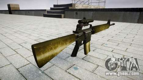 The M16A2 rifle [optical] olive for GTA 4 second screenshot