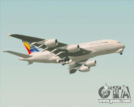 Airbus A380-800 Philippine Airlines for GTA San Andreas side view