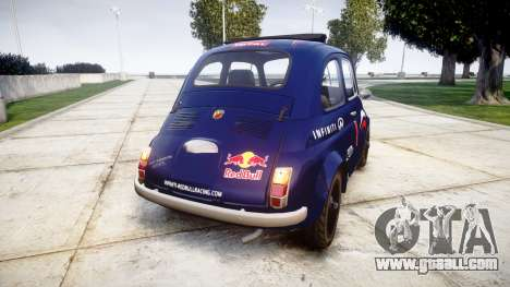Fiat 695 Abarth SS Assetto Corse 1970 Red Bull for GTA 4 back left view