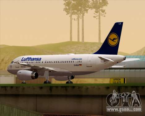 Airbus A319-100 Lufthansa for GTA San Andreas left view