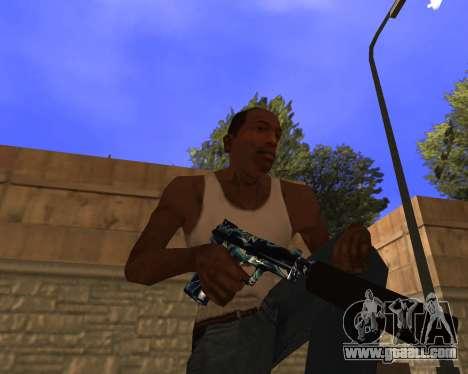 Blue Chrome Weapon Pack for GTA San Andreas third screenshot