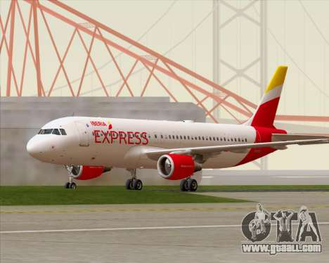 Airbus A320-200 Iberia Express for GTA San Andreas left view