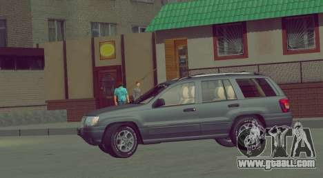 Jeep Grand Cherokee WJ for GTA San Andreas back view