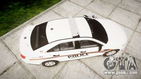 Ford Taurus 2014 Police Interceptor [ELS] for GTA 4 right view