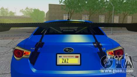 Subaru BRZ Drift Built for GTA San Andreas inner view