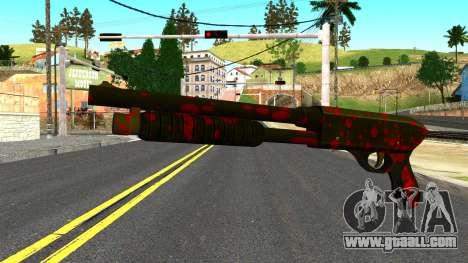 Shotgun with Blood for GTA San Andreas
