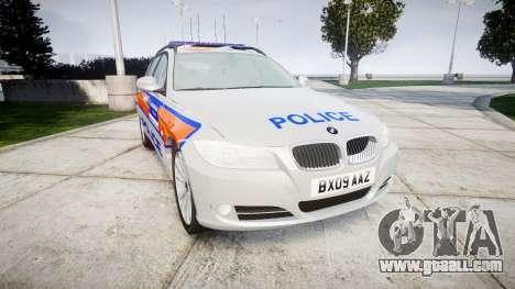 BMW 325d E91 2009 Metropolitan Police [ELS] for GTA 4