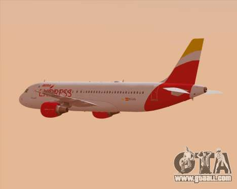 Airbus A320-200 Iberia Express for GTA San Andreas wheels
