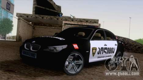 BMW M5 E60 Georgia Police for GTA San Andreas