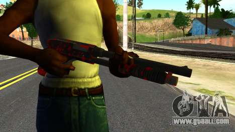 Shotgun with Blood for GTA San Andreas third screenshot