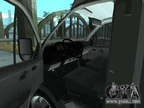 GAZel 3302 for GTA San Andreas back view