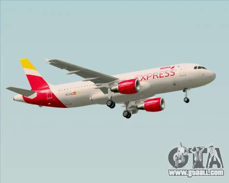 Airbus A320-200 Iberia Express for GTA San Andreas back view