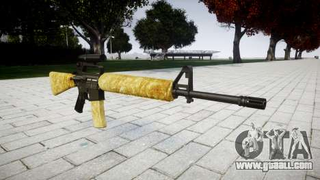 The M16A2 rifle [optical] gold for GTA 4