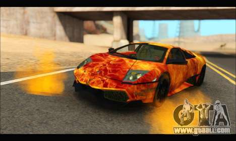 Lamborghini Murcielago In Flames for GTA San Andreas