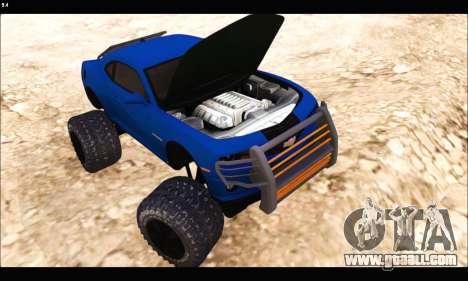 Chevrolet Camaro SUV Concept for GTA San Andreas back view