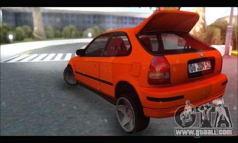 Honda Civic HB (JDM Family) for GTA San Andreas back left view
