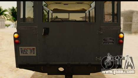 Land Rover Series IIa LWB Wagon 1962-1971 [IVF] for GTA San Andreas back view