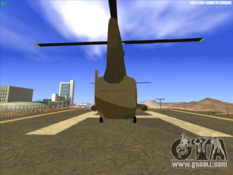 GTA 5 Cargobob for GTA San Andreas back left view