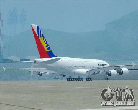 Airbus A380-800 Philippine Airlines for GTA San Andreas upper view